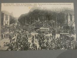 FETES DE LA VICTOIRE. VICTORY FETE. 14/07/1919. ED. E.C N°898 . ROND POINT AVEC PYRAMIDE DE CANONS. - Guerra 1914-18