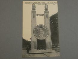 FETES DE LA VICTOIRE. VICTORY FETE. 14/07/1919. ED. E.C N°893 .  UN DES PYLONES DU ROND POINT DES CHAMPS ELYSEES ALSACE. - Guerra 1914-18