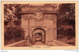 Citadelle De BLAYE  Porte Royale  Carte écrite En 1934  2 Scans  TBE - Blaye