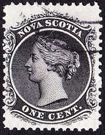 NOVA SCOTIA 1860 QV 1d Black SG18 Fine Used - Nova Scotia