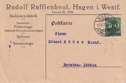 ALLEMAGNE  1923 CARTE INFLA DE HAGEN - Deutschland