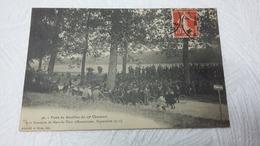 CPA   -  Visite Du Bataillon Du 19 ème Chasseurs à La Frontiere De Mars-la-Tour  ( Manoeuvres Septembre 1915 - Guerra 1914-18