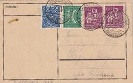 ALLEMAGNE 1922 CARTE DE WESTEREGELN - Deutschland