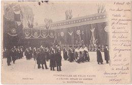 75. PARIS. Funérailles De Félix Faure. A L'Elysée, Départ Du Cortège. La Magistrature - Unclassified