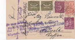 ALLEMAGNE 1922 CARTE-CHEQUE DE MITTERTEICH - Covers & Documents
