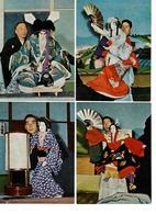 CARTOLINE GIAPPONE BUNRAKU - SET DI 4 PEZZI IN BUSTA - NON VIAGGIATE - Giappone