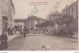 88 RAON L'ÉTAPE VOSGES EMEUTE BARRICADE DE LA RUE JULES FERRY 1907 CPA BON ÉTAT - Raon L'Etape