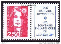 France Marianne Du Bicentenaire N° 2715,a ** Briat - Le 2.50 Frs Rouge+Vignette - 1989-96 Marianne Du Bicentenaire