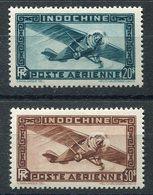 RC 15068 INDOCHINE N° 46 / 47 POSTE AÉRIENNE COTE 34,00€ NEUF ** MNH TB - Indochine (1889-1945)