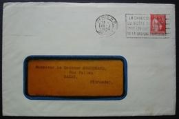 Plasmarine Laboratoire Biomarine Dieppe 1936 Lettre Avec Pub Médicale Pour Bazas (Gironde) - Postmark Collection (Covers)
