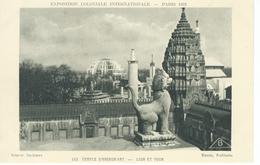 CPA - 75 - PARIS Exposition Coloniale - 1931 - Temple D'Angkor , Lion Et Tour  - Très Bon état - - Exhibitions