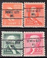 USA Precancel Vorausentwertung Preo, Locals Missouri, Schell City 734, 4 Diff. - Vereinigte Staaten