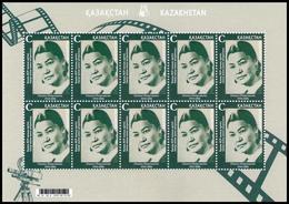 Kazakhstan 2019. Movie Actress. Full Sheet.NEW! - Kazakhstan