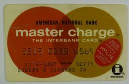 USA - Credit Card - Master Charge - American National Bank - Exp 02/79 - Geldkarten (Ablauf Min. 10 Jahre)