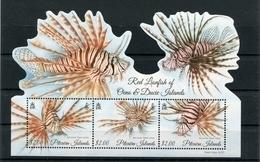 """Pitcairn - Block Nr. 68 - """"Rotfeuerfisch"""" ** / MNH (aus Dem Jahr 2015) - Briefmarken"""