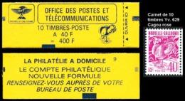 NOUV.-CALEDONIE 1992 - Yv. Carnet C629 **   Faciale= 3,35 EUR - 10 Ex Yv. 629 Cagou 40f Rose  ..Réf.NCE25340 - Booklets
