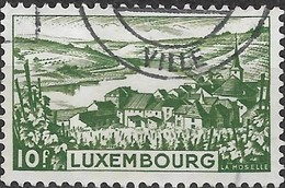 LUXEMBOURG 1948 Tourist Propaganda - 10f. River Moselle FU - Usati