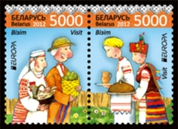 BELARUS - WEISSRUSSLAND 2 STAMPS SE-TE PAIR VISIT EUROPA CEPT MNH 2012 - 2012