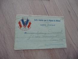 CPFM Carte Postale En Franchise Militaire Guerre 14/18 Drapeaux Gloire Aux Armées Alliées - Marcofilie (Brieven)
