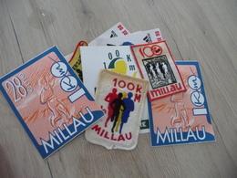 Millau Archive écussons Et Auto Collants 12 Pièces Sur Les 100 Km De Millau Athlétisme - Athlétisme
