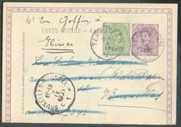 EP Carte-lettre (Em. 1915) 15c. Violet + Tp N°137 Obl; Sc TERVUEREN Du 8-IX-1921 Vers Bruxelles (biffé) Et Renvoi à Glim - Postwaardestukken