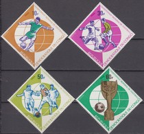 Congo (Kinshasa, Zaire) 25.07.1966 Mi # 271-74 1966 FIFA World Cup, England MNH OG - World Cup
