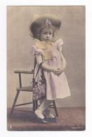 Très Belle Fillette Blonde Petite Fille Modèle ? Avec Sac à Main Série 581 3 Avant 1904 VOIR ZOOM Et DOS Non Séparé - Ritratti