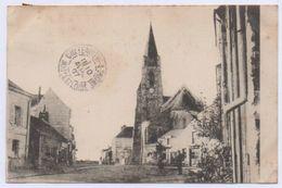 49 AMBILLOU CHÂTEAU - L' Église, Route De Doué. Courrier De 1907 - Autres Communes