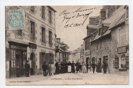 - CPA GUINGAMP (22) - Le Rue Saint-Michel 1905 (belle Animation) - Collection Hamon - - Guingamp