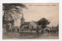 - CPA SAINT-JULIEN (22) - L'Eglise (avec Personnages) - Collection Hamonic 3465 - - Frankrijk