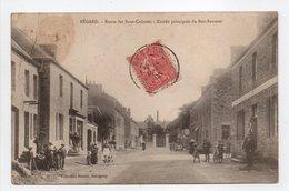 - CPA BÉGARD (22) - Route Des Sans-Culottes 1906 - Entrée Principale Du Bon-Sauveur (belle Animation) - Collection Hamon - Frankrijk