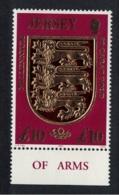 Jersey New Millennium 1v £10 22 Karat Gold Bottom Margin MNH SG#927 - Jersey