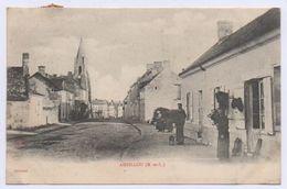 49 AMBILLOU CHÂTEAU - L' Église, Vue De La Route D' Angers. Courrier De 1905 ? - Autres Communes