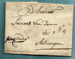 Brief Met Inhoud 29/08/1809, FRANCQ BREDA Naar Antwerpen + Tekst : Troepen Uit Westphalen ... - 1794-1814 (Periodo Francese)