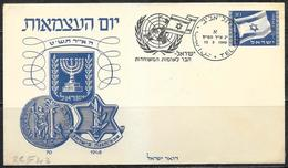 Israele/Israel/Israël: Intero, Stationery, Entier, Bandiera, Flag, Drapeau - Buste
