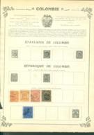 Collection Colombie  Sur Feuilles - Stamps