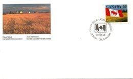 CANADA. N°1132 De 1990 Sur Enveloppe 1er Jour. Drapeau National. - Buste