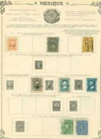 Collection Mexique   Sur Feuilles - Stamps