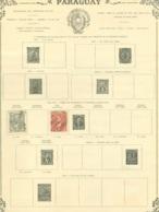 Collection Paraguay   Sur Feuilles - Francobolli