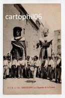 - CPA BARCELONA (Espagne) - Los Gigantes De La Ciudad (belle Animation) - Edit. A. T. V. 226 - - Barcelona