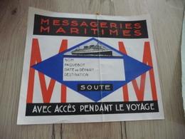 Messageries Maritimes Bon De Soute Vierge Un Pli - Bateaux