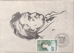 Carte Maximum Musique 1975 Josef Suk Tchécoslovaquie - Lettres & Documents