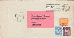 Schweiz - Freimarken Als Portomarken, Unfrank. Ortsbrief Zürich 1963 - Portomarken
