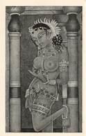 Inde Maya Ajanta Cave N°1 Femme Nue Seins Nus Sein Nu Grottes Bouddhistes Grotte Bouddhiste Peinture Murale - Indien