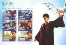 (A) Taiwan 2004 1st Harry Potter Stamps S/s- Prisoner Of Azkaban- Hogwarts Owl Cinema Bird - Unused Stamps