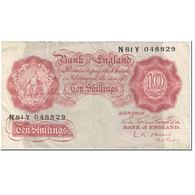 Billet, Grande-Bretagne, 10 Shillings, 1955-1960, Undated (1955-60), KM:368c, B - 1952-… : Elizabeth II