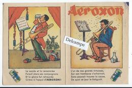 AEROXON - Petit Dépliant Publicitaire De 4 Pages Sur La Musique - Publicités