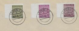 ZONE SOVIETIQUE - EMISSIONS LOCALES / WEST SACHSEN - 1945 - Mi 136/137 OBLITERES ! LEIPZIG Sur ENVELOPPE NON VOYAGEE - Zone Soviétique