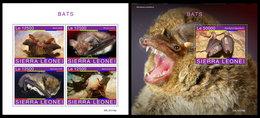 SIERRA LEONE 2019 - Bats. M/S + S/S Official Issue [SRL191118] - Sierra Leone (1961-...)