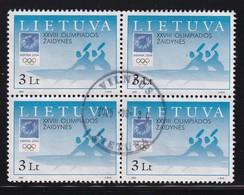 Lietuva 2004, Sports 4-block Minr 856 Vfu. Cv 10 Euro - Litauen